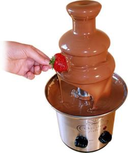 Фото шоколадного фонтану