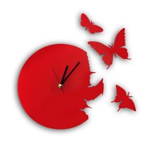 Фото красных настенных часов
