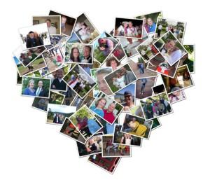 Фото фото-коллажа в виде сердца