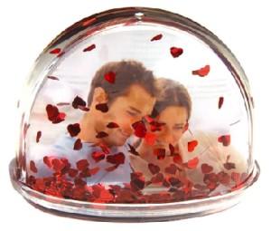 Фото шара с фото и сердечками