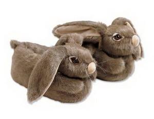 Тапочки в виде кроликов