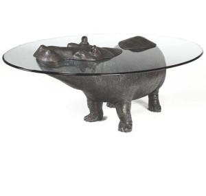 Фото журнального столика с бегемотом