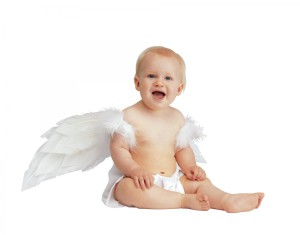 Фото малыша с крыльями