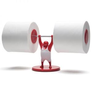 Фото держателя для туалетной бумаги в виде штангиста