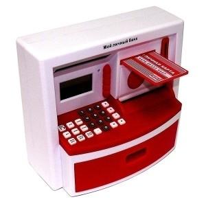 Фото часов-копилки в виде банкомата