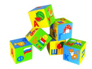 Фото мягких кубиков с азбукой