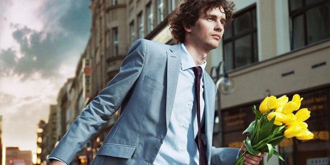 Фото парня с цветами