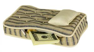 Фото матраса с деньгами