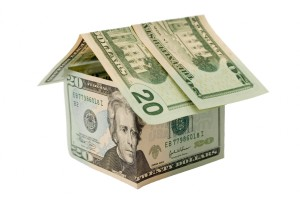 Фото домика из денег