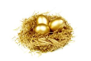 Фото золотых яиц