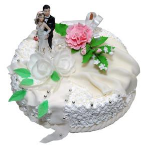 Фото торта с изображением супружеской пары