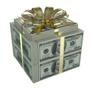 Фото коробки из долларов