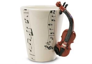 Фото кружки с ручкой в виде скрипки