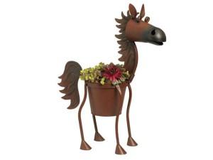 Фото оригинального горшка для цветов в форме коня