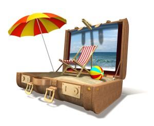 Фото туристического чемодана