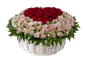 Фото корзины с розами