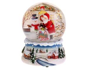 Фото новогоднего снежного шара