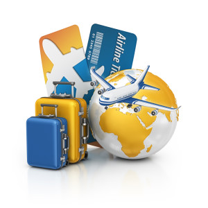 Фото глобуса и чемоданов
