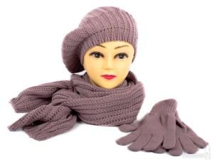 Фото комплекта: шапка, шарф, перчатки