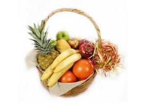 Фото корзины с фруктами