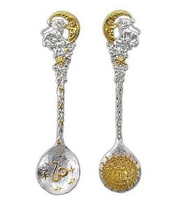 Фото ложок з золота і срібла