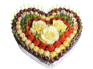 Фото торта в форме сердца